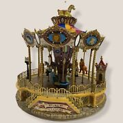 Lemax Belmont Carousel 2004 Village Collection Animated Lighted In Box Read