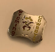 Wyoming Cowboys Vtg Handcrafted Cowboy Belt Buckle By Gregg Evans And Bill Grubbs