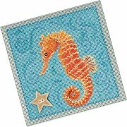 Seahorse Beaded Counted Cross Stitch Kit Mill Hill 2018 Buttons Beads Spring ...