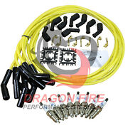 New Spark Plugs And 500 Ohm Universal Ls Ceramic Wires For 2014-21 Chevy And Gmc V8