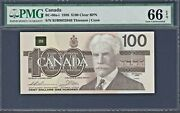 1988 Bank Of Canada 100 Note Pick Bc-60a-i Gem Unc Pmg 66 Epq