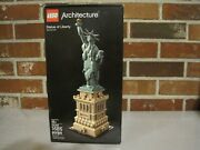 2018 Lego Architecture 21042 Statue Of Liberty New York, Usa--factory Sealed