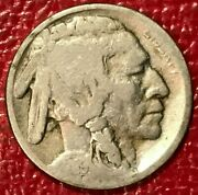 A Vintage 1919 P Buffalo Nickel Coin-old Us Coin-apr042