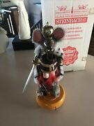 Vintage Steinbach Animated Moves In Circle Musical Mouse King Smoker Le