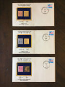 Stamp Collection With 22k Gold Replicas 3 Pcs From 1938 Presidential Series Polk