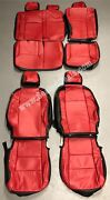 Toyota Tacoma Double Cab Sr Sr5 Trd Black And Red Custom Leather Seat Covers