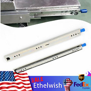 """Heavy Duty Drawer Slide 266lbs Ball Bearing With Lock Full Extension 47.2""""silver"""