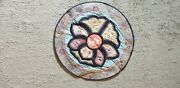 Antique Chinese Qing Dynasty Silk Embroidered Rank Badge Round Collar Bats Old