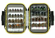 Fly Fishing Lures Set 40pcs Kit Wet Dry Flies Nymph Trout Fish Bait Tackle Box