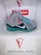 Lebron 9 Ix Ps Elite South Beach Wolf Grey Mint Candy New Green Pink Size 8