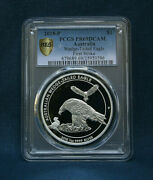 2018-p Australia Silver Wedge-tailed Eagle Proof Pr69dcam Not High Relief F.s