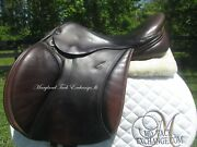 17.5 Trilogy Talisman Close Contact Jumping Saddle-wool Flocked-on Trial
