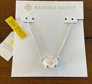 Nwt Kendra Scott Ethan Pendant Necklace Silver Ivory Pearl Last One
