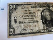 1929 20 Old Bill National Currency Canonsburg Rare Low Serial 4570 Paper Money