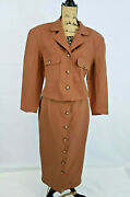 Jh Collectibles Womenand039s 2 Piece Suit Separates Brown Skirt Suits Size 10/8 M24