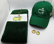Masters Golf 2014 Dad Hat American Needle Green Towel Ball Markers Set Gift Us
