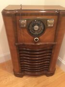 Refurbished 1941 Zenith Console Tube Radio 8s563x 8a02 Wave Magnet Am Shortwave