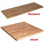 Wood Butcher Block Countertop Home Kitchen Cutting Board Solid Unfinished Birch