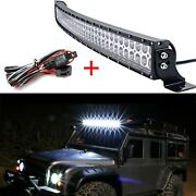 240w Dual Row Led Light Bar Combo Beam Driving Offroad At Truck Suv+free Wires