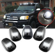 5x White Smoked Lens Led Bulb Rooftop Driving Light Kit For Toyota Tundra Tacoma