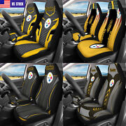 Usa Pittsburgh Steelers 2pcs Car Seat Covers Universal Fit Auto Seat Protector
