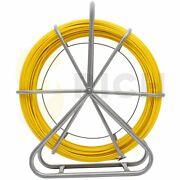 150m Fish Tape 8mm Fiberglass Wire Cable Running Rod Duct Rodder Puller