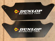 Rare Vintage Original Dunlop Motorcycle Tire Metal Display Stand Sign Gas And Oil