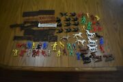 Vintage Plastic Toy Cowboy Indians Mpc Marx West Germany Mixed Lot Of 37