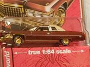 1976 Aw Cadillac Coupe Deville Burgundy W/gold Wheels 1/64 Diecast Get This One