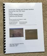 Landscape Change And Climate Variation During The Past ....central Mojave Desert