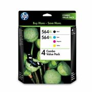 Hp 564xl Value Pack 4 Black Cyan Magenta Yellow Ink Cartridges Combo - New
