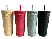 Starbucks Matte Studded Cold Cup Mint Green Yellow Ruby Pink Black Bling Venti