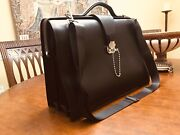 Dunhill Of London Authentic Black Leather Briefcase / Doctor Bag / Lawyer Bag