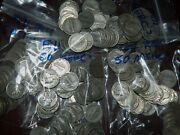 Lot Of 50 Mercury Dimes Junk 90 Silver - 5 Face / 1 Full Roll Circulated Cond.