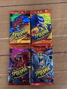 Fleer Ultra Spider-man Premiere Edition 1995 Lot Of 4 Sealed Packs New Spiderman