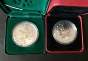 Pair Of Two Canadian Maple Leaf Privy Silver Coin -1998 Rcm And 2012 Tower Of Pisa