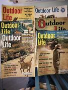 Vintage Outdoor Life Magazine Lot Of 6 - 1938 1956, 1962 Poor To Good Condition