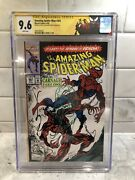 Amazing Spider-man 361 Cgc 9.6 Ss Signed + Sketch Bagley 1st Appearance Carnage