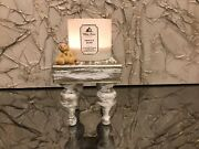 Farmhouse Pedestal Riser Stand Solid Wood White And Glitter. Sealed No Fallout