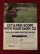 Daisy 922 Air Rifle With Free Scope 1980 Ad/poster Promo Art