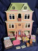 Fisher Price Loving Family Grand Mansion Dollhouse And Furniture Mattel 2008