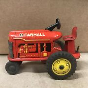 Vintage Marx Linemar Friction Ih Farmall Tin Litho Tractor Toy
