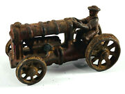 Antique Hubley Cast Iron Farm Tractor Car Truck Toy