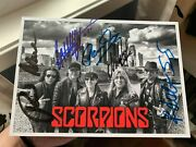 The Scorpions Signed Autographed Photo 8.5 X 6 Inches X5 Rudolph Klaus Jabs
