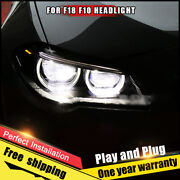 For Bmw 5 Series F18 F10 Headlight Assembly Xenon Lens Double Beam Hid Kit 11-17