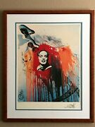 Rare Salvador Dali Framed First Edition Lithograph Titled Marilyn.
