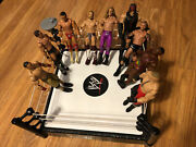 Mattel 2013 Wwe Action Figures Good Condition Lot Of 9 Used W Raw Ring