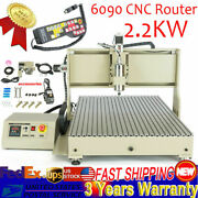 Engraver Usb 4axis Cnc Router 6090 Engraving Machine Drilling Carve 2.2kw 110v T