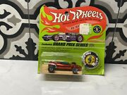 1967 Hot Wheels Indy Eagle Redline Red New In Original Blister W/ Button