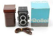 Rear【unused/box】rolleiflex T Tlr / White Face /tessar 75mm F3.5 Lens From Japan